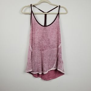 We the Free Racerback Distressed Linen Tank Top
